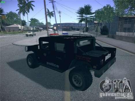 Hummer H1 1986 Police для GTA San Andreas вид слева