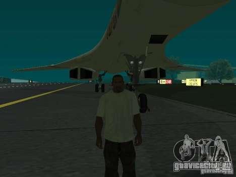 Ту -160 для GTA San Andreas вид сзади слева