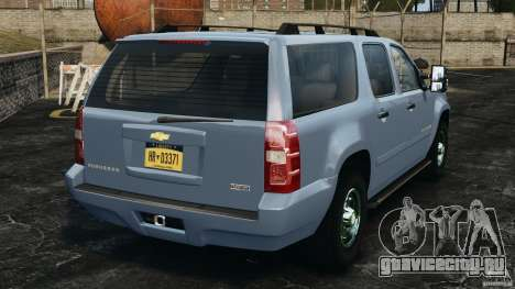Chevrolet Suburban GMT900 2008 v1.0 для GTA 4 вид сзади слева