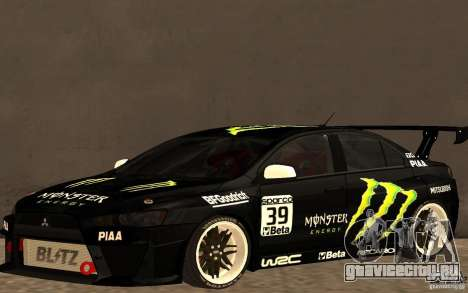 Mitsubishi Lancer Evolution X Monster Energy для GTA San Andreas