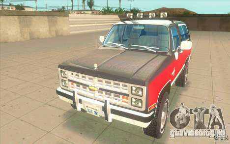 Chevrolet Blazer K5 Stock 1986 для GTA San Andreas