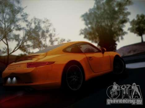 Porsche 911 (991) Carrera S для GTA San Andreas вид сбоку