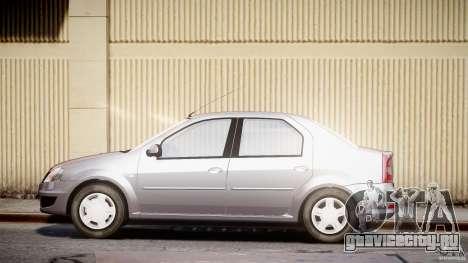 Dacia Logan v1.0 для GTA 4 вид слева