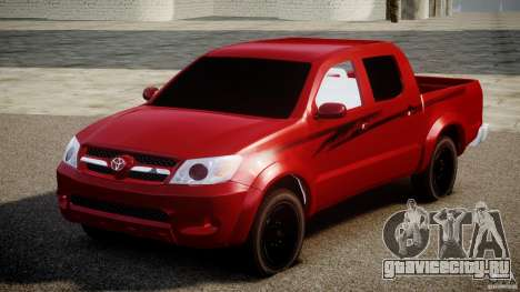 Toyota Hilux 2010 для GTA 4 вид сзади