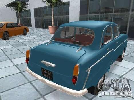 Москвич 403 для GTA San Andreas вид сзади слева