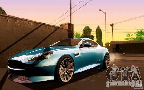 Aston Martin Virage V1.0 для GTA San Andreas вид слева