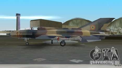 MiG 21 LanceR A для GTA Vice City вид сзади слева