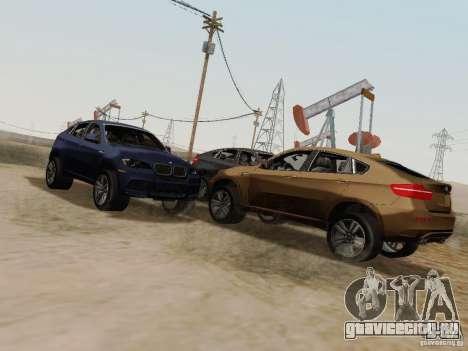 BMW X6M для GTA San Andreas вид сзади