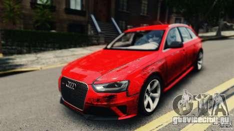 Audi RS4 Avant 2013 v2.0 для GTA 4 вид справа