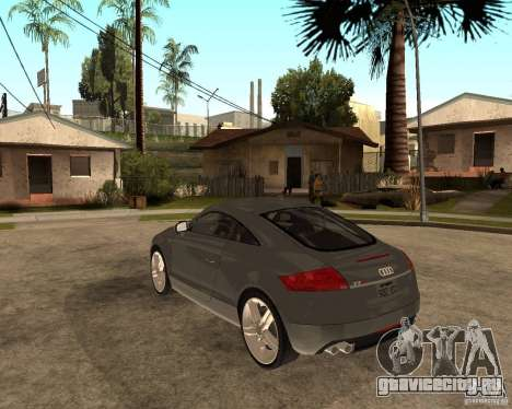 Audi TTS Coupe V1.1 для GTA San Andreas вид сзади слева