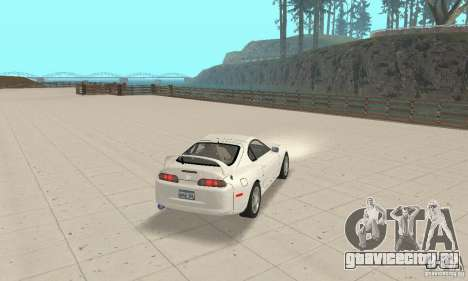 Toyota Supra 1998 stock для GTA San Andreas вид слева