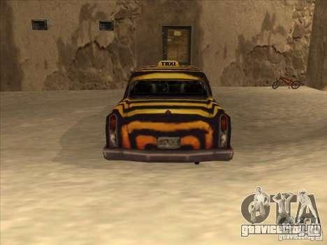 Zebra Cab из Vice City для GTA San Andreas вид справа
