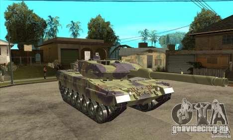 Leopard 2 A6 для GTA San Andreas вид сзади