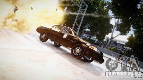 Ford Crown Victoria Fl Highway Patrol Units ELS для GTA 4 вид сбоку