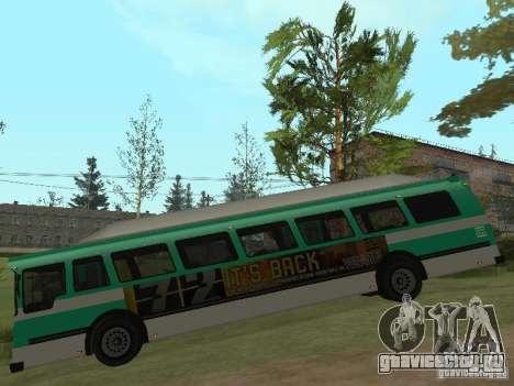 Bus из ГТА 4 для GTA San Andreas вид сзади слева