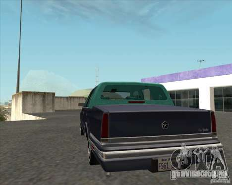 Chrysler New Yorker 1988 для GTA San Andreas вид сзади слева