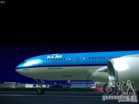 Airbus A330-200 KLM Royal Dutch Airlines для GTA San Andreas вид справа