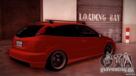 Ford Focus SVT Clean для GTA San Andreas вид изнутри
