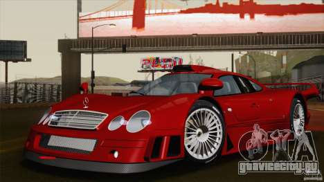 Mercedes-Benz CLK GTR Race Road Version Stock для GTA San Andreas вид снизу