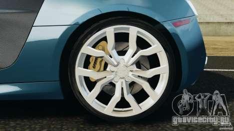 Audi R8 5.2 Stock Final для GTA 4 вид сверху