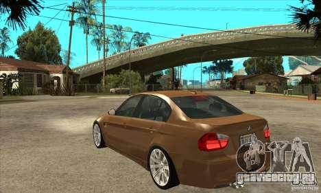 BMW E90 M3 для GTA San Andreas вид сзади слева