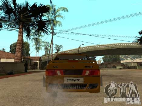 ВАЗ 2115 Police Tuning для GTA San Andreas вид сзади слева
