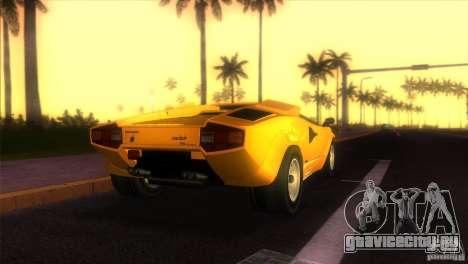 Lamborghini Countach для GTA Vice City вид слева