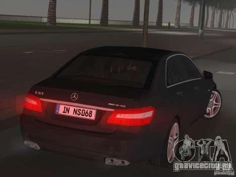 Mercedes-Benz E63 AMG для GTA Vice City вид сзади