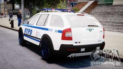 Skoda Octavia Scout NYPD [ELS] для GTA 4 вид сверху