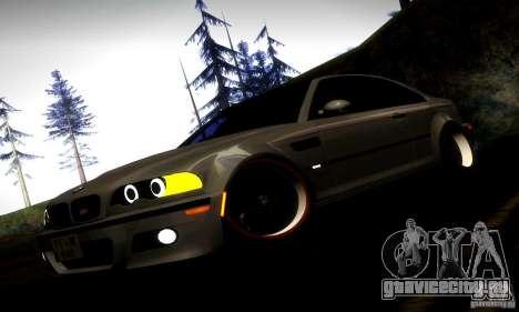 BMW M3 JDM Tuning для GTA San Andreas вид снизу