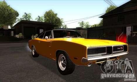 Dodge Charger RT 1969 для GTA San Andreas вид сзади