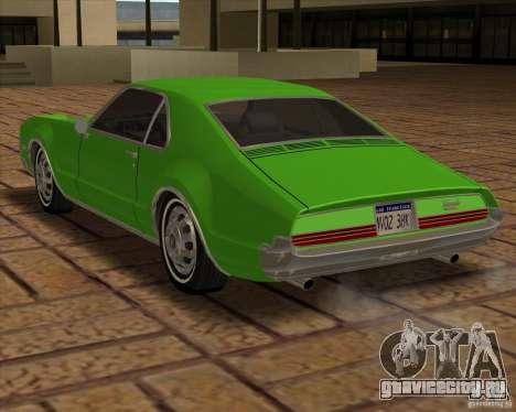 1966 Oldsmobile Toronado для GTA San Andreas вид сзади