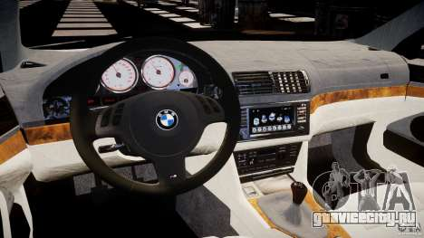 BMW M5 E39 Stock 2003 v3.0 для GTA 4 вид сзади