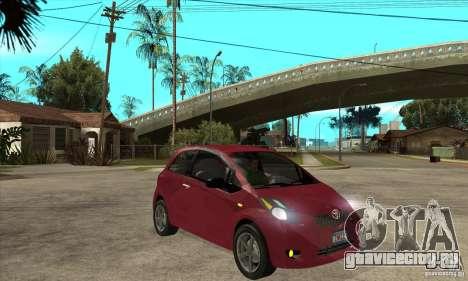 Toyota Yaris для GTA San Andreas вид сзади