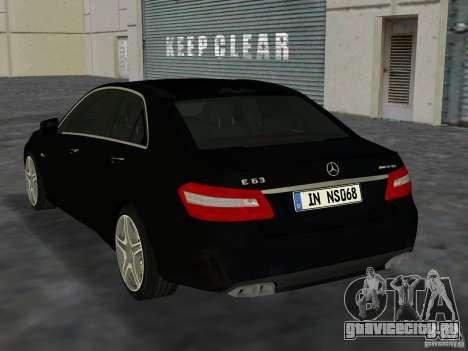 Mercedes-Benz E63 AMG для GTA Vice City вид справа