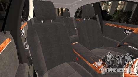Mercedes-Benz S W221 Wald Black Bison Edition для GTA 4 вид изнутри