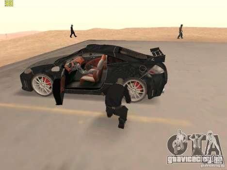 Mitsubishi Eclipse GT NFS-MW для GTA San Andreas вид изнутри