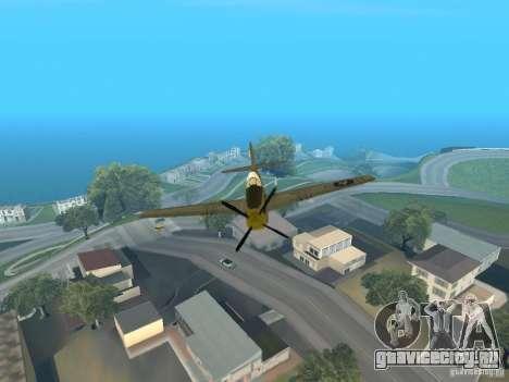P-51 Mustang для GTA San Andreas вид сзади