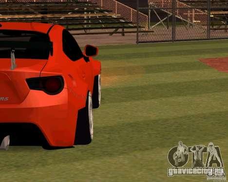 Scion FR13 для GTA San Andreas вид изнутри