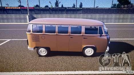 Volkswagen Kombi Bus для GTA 4 вид слева