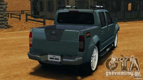 Nissan Frontier DUB v2.0 для GTA 4 вид сзади слева