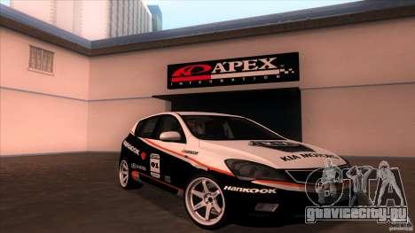 Kia Ceed 2011 для GTA San Andreas вид изнутри