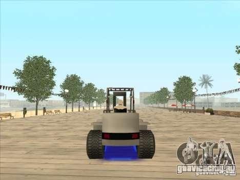 Forklift extreem v2 для GTA San Andreas вид слева