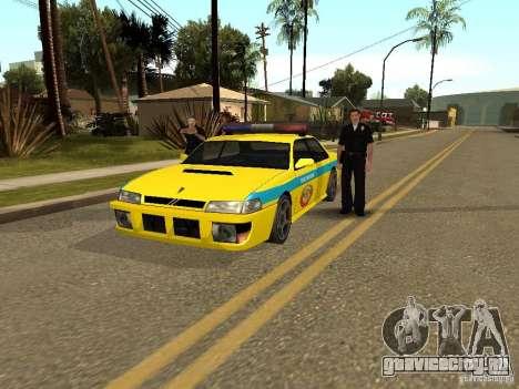 Sultan USSR Police для GTA San Andreas вид слева