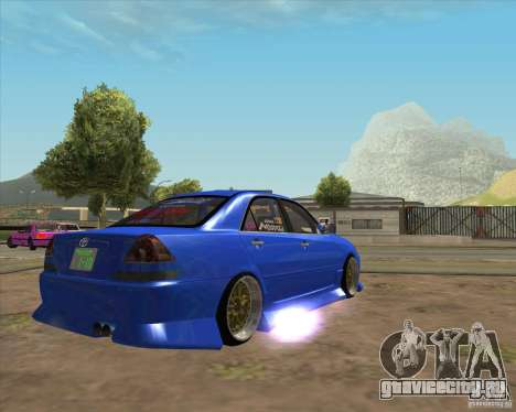 Toyota JZX110 make 2 для GTA San Andreas вид сзади слева