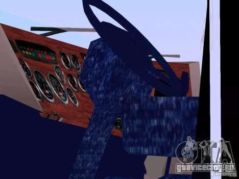 Peterbilt 387 для GTA San Andreas вид изнутри