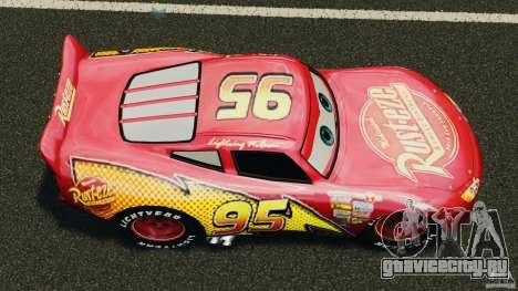 Lightning McQueen для GTA 4 вид справа
