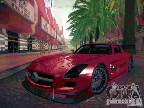 Mercedes-Benz SLS AMG GT-R для GTA San Andreas вид сзади