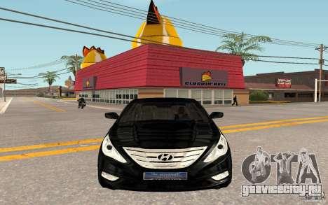 Hyundai Sonata 2012 для GTA San Andreas вид слева
