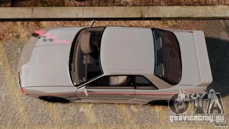 Nissan Skyline GT-R (BNR32) для GTA 4 вид справа